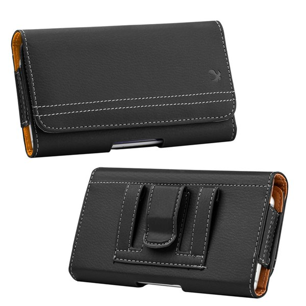 Waist Pouch Universal Suede Vintage Pouch Horizontal Case Cover with Card Slots for iPhone 8 Samsung Galaxy 5.5 inch Smartphone