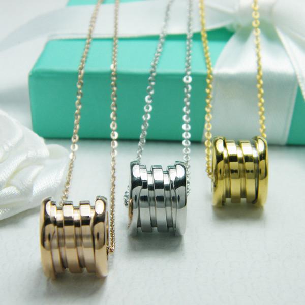 Klassische Halskette Außenhandel Titan Stahl Schmuck USA Sterne mit dem Absatz große Feder Halskette Verlängerung Kette