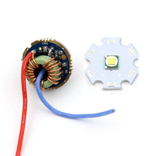 20мм 10Вт Cree XM-L T6 светодиодный излучатель чипа диод + 22мм 5,6В-9В 2А 5 режимов платы водителя для XM-L L2 T6 U2 светодиодный фонарик