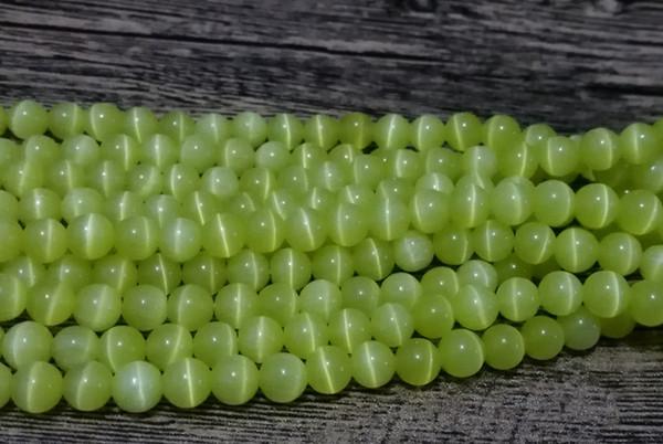 fabrication de bijoux 6 mm Verre Faux Pearls-Vert Menthe 100 ronde Perles