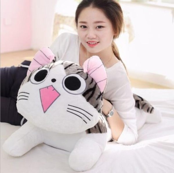 1pc 20cm Christmas Birthday Gifts Japan Anime Figure Cheese Cat Plush Stuffed Toy Doll Pillow Cushion Free Shipping