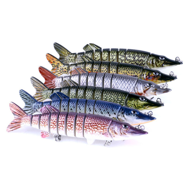 Lifelike Fishing Lure Multi Segment Swimbait Crankbait Hard Bait 12.7cm 20g Artificial Lures Fishing Tackle 6 Colors Wholesale 2508054