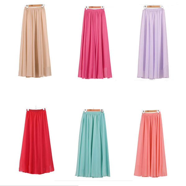 Women Puff Mesh Tulle Skirt White Faldas High Waist Pleated Maxi Long Tulle Skirts Layers Beach Dress A-Line