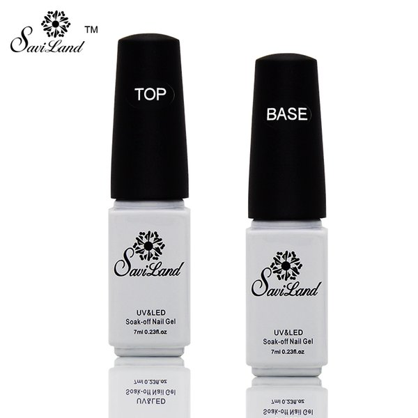 Wholesale-Saviland 2pcs Non-cleaning Base and Tpp Coat for UV Gel Polish Top Coat Top it off Nail Lacquer Foundation Nails Glue