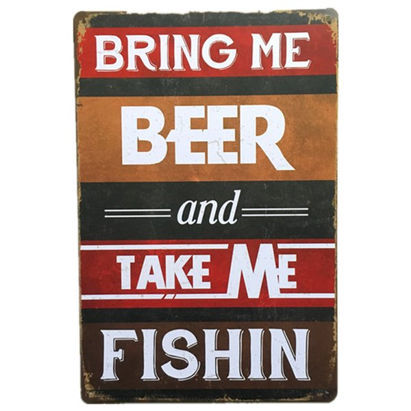 Bring Me Beer Vintage Rustic Nostalgic Home Decor Bar Pub Hotel Restaurant Coffee Shop home Decorative Metal Iron Retro Tin Sign