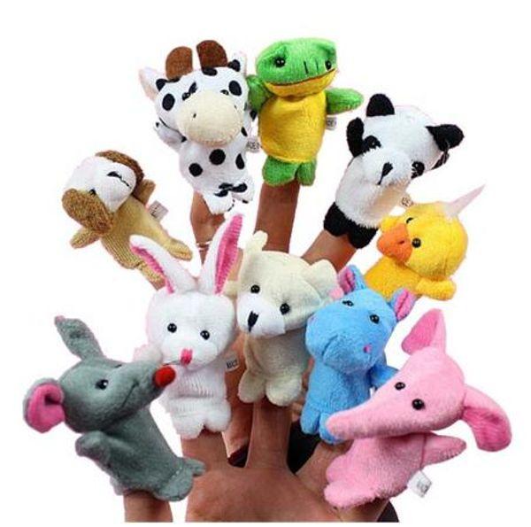 Heißer verkauf Cartoon Tier Fingerpuppe Plüschtiere Kinder Favor Puppen