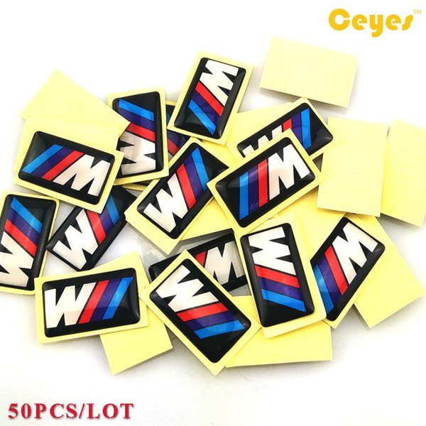 Car Stickers for Bmw M M3 M5 M6 X5 E46 Personality Labels Auto Decorations Accessories Car Plastic Drop Sticker Car Styling 50pcs/Lot