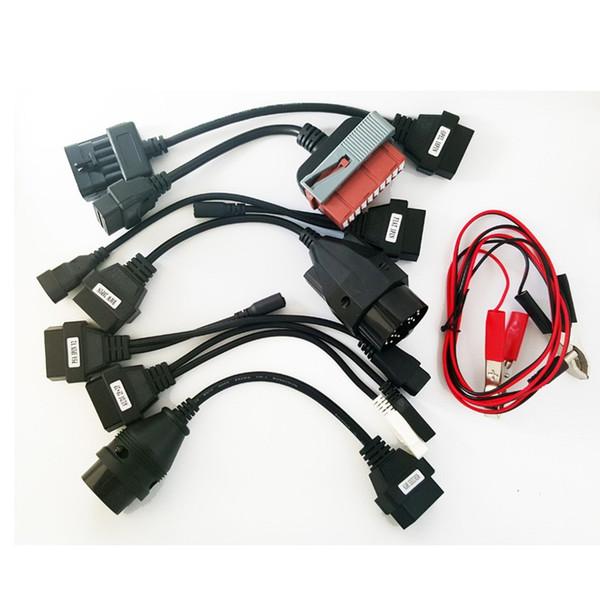 2018 High Quality Full Set tcs cdp obd2 Cables para TCS cdp pro plus SCANNER cable OBD2 Camiones OBDII Herramienta de diagnóstico cable de conexión