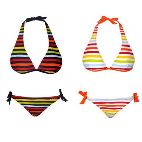 70636bc2 Compre Sexy Rainbow Print Bikini Triángulo De Tres Puntos Traje De Baño  Bikini Moda Mujeres Traje De Baño Trajes De Dos Piezas Ropa De Playa ...