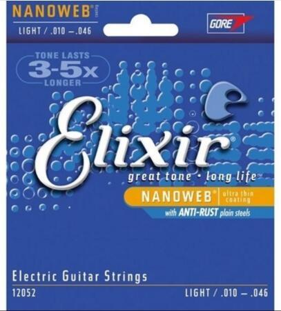 Бесплатная доставка эликсир 12052 Nanoweb ультра тонкий слой струны для электрогитары супер свет (010-046) оптом
