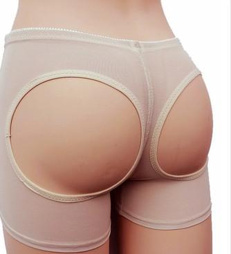 EuropeStyle net yarn sexy toning carry buttock pants wommen's shapewear exposed buttocks black Khaki 2 colors boxers underpants B46600
