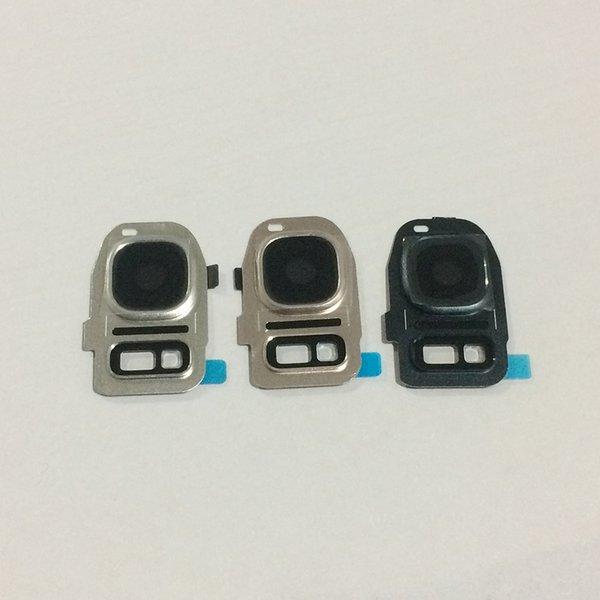 Nueva cubierta de lente de vidrio para cámara con flash LED para Samsung Galaxy S7 S7 Edge Replacement Part