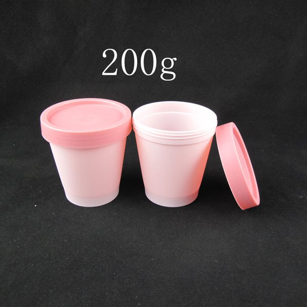 200g X 20 cylinder mask PP empty cosmetic cream bottle, facial mask cream jars,skin care cream ,mask containers pink tins china