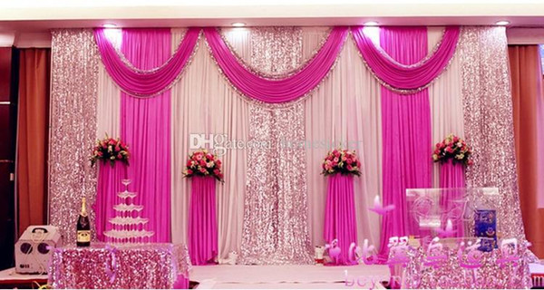 High Quality Wedding Backdrop Curtain Sequined Cheap Wedding Decorations 6m*3m Cloth Background Scene Wedding Decor Supplies