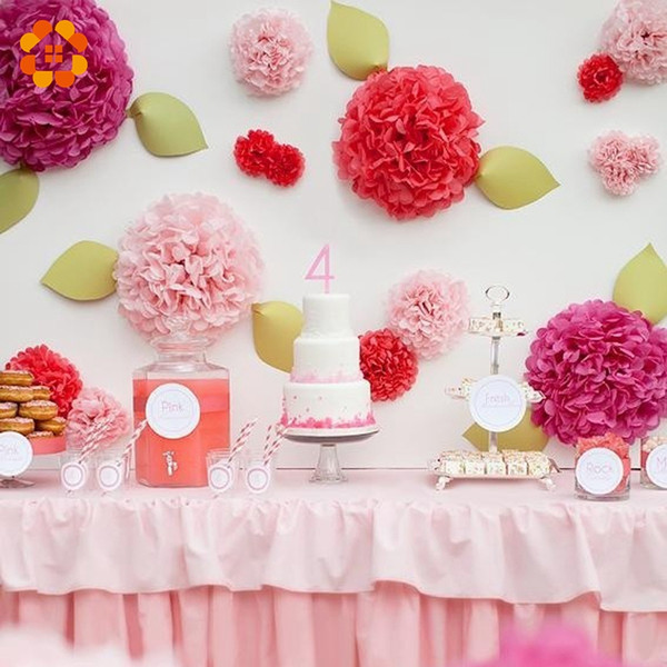 Wholesale- 8'(20cm)Tissue Paper Pom Poms Wedding Party Decor Paper Flower For Wedding Decoration /Garden Supplies
