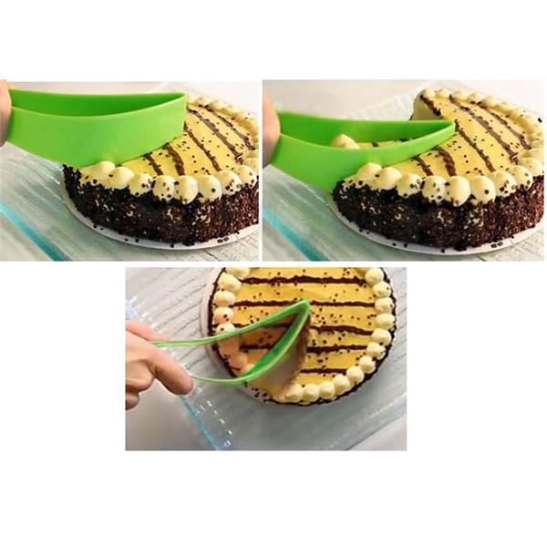 2017 New Cake Pie Slicer Sheet Eco-Friendly Cutter Server Bread Slice Knife Kitchen Gadget Hot