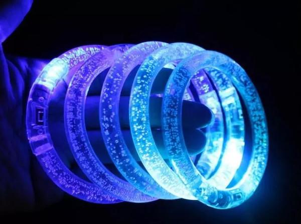 1000pcs LED Flash Blink Blinking Color Changing Light Lamp Party Fluorescence Club Stage Bracelet Bangle