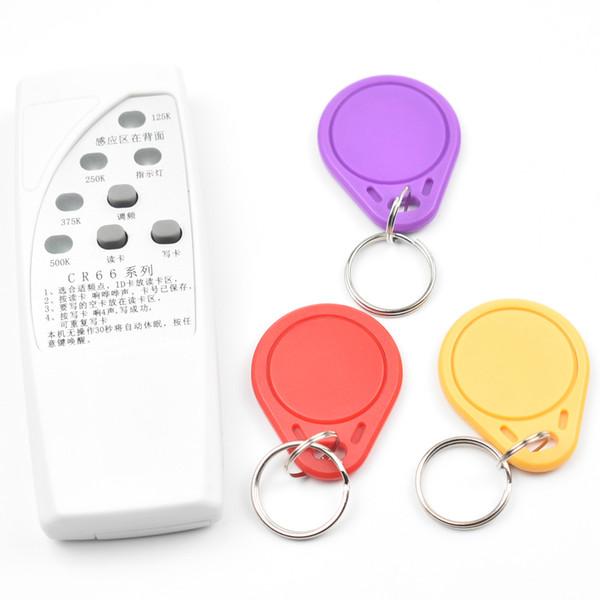 RFID Copiadora de mano Duplicadora 125 KHz ID Puerta Control de acceso Tarjeta Copiadora Escritora 3pcs T5577 Tarjetas grabables Escritor lector de llavero