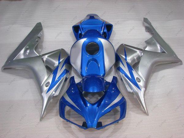 Carénage plastique CBR 1000 RR 2006 Carrosserie pour Honda Cbr1000 RR 07 Argenté Bleu Fireblade 06 2006 - 2007