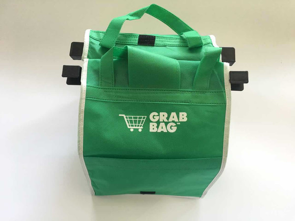 best selling New Grab Bag Reusable Ecofriendly Shopping Bags That Clips To Your Cart Foldable Shopping Bags Reusable Eco Shopping Tote