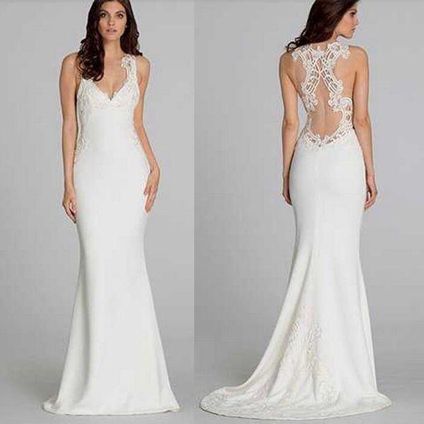 Sexy Satin Beach Wedding Dresses