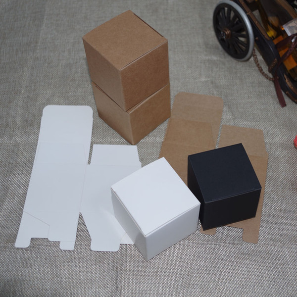 2018 Rushed 50pcs/lot 8cmx8cmx6cm-12cm 4sizes White/kraft Paper Box Diy Lipstick Perfume Oil Bottle Packaging Boxes for Tube Valve Packing