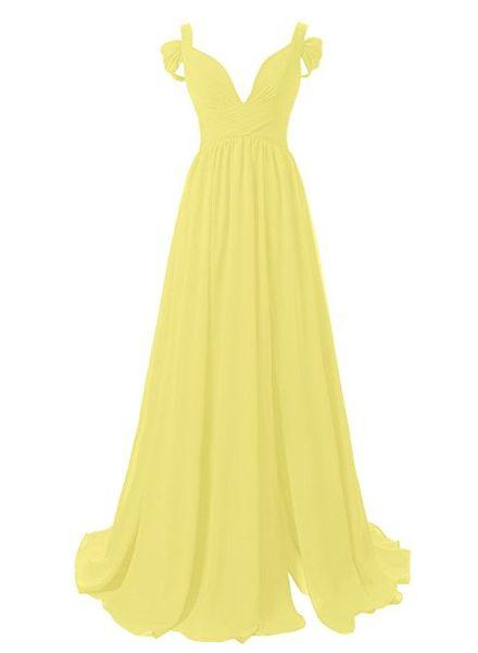 Long Bridesmaids Dresses 2017 Cheap Women's Sweetheart Off--Shoulder V Neck Long Chiffon Bridesmaid Dress Plus Size Evening Gown