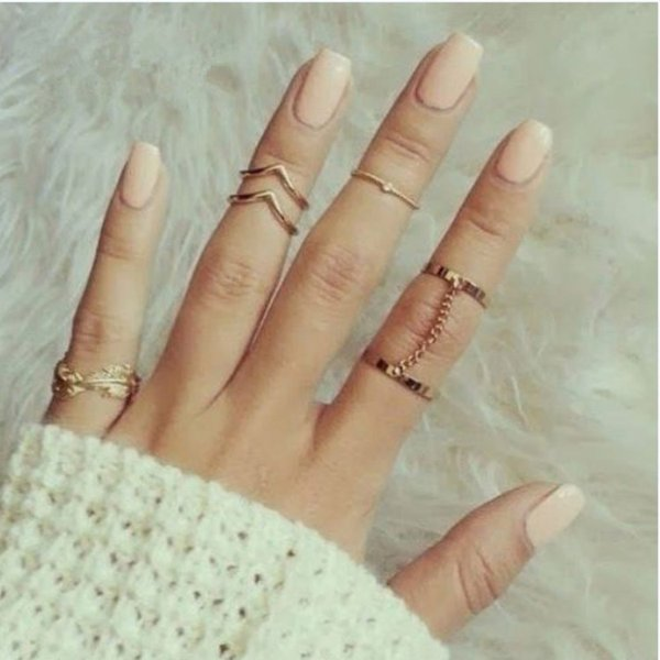 top popular Europe and the United States ring wholesale a new fashion wild diamond even with 6 sets of rings leaf ring set wholesale free shipping 2019