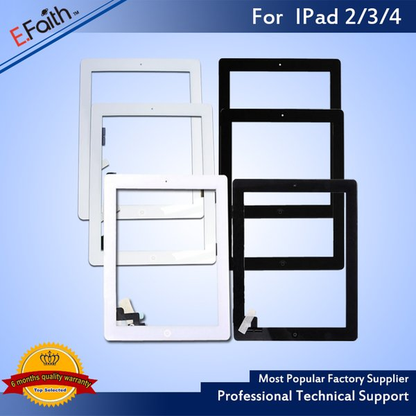 top popular For iPad 2,iPad 3 ,iPad 4 Touch Screen Digitizer Replacements & Home Button & Adhesive 2019