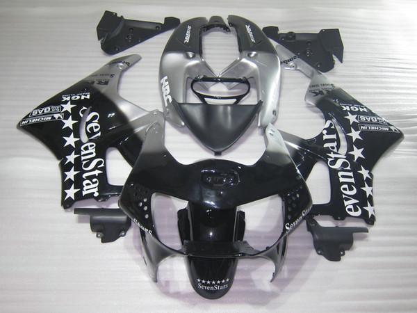 Road racing Fairing kit for Honda CBR919RR 98 99 silver black motorcycle fairings set CBR 900RR 1998 1999 OT01