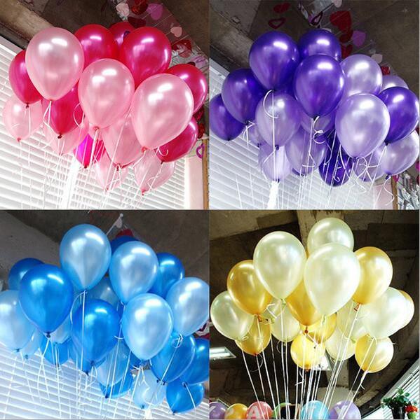Balonlar lateks 12 inç 2.8 gram inci renk Hediye Zanaat Doğum Günü Düğün Parti için bebek duş iyilik Dekorasyon DIY