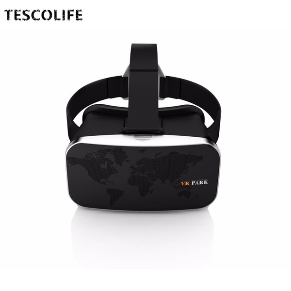 Wholesale- 2016 Hot Brand VR BOX VR PARK 3D Glasses Virtual Reality Headset Video Movie Game Glasses Headset + Bluetooth Remote Controller