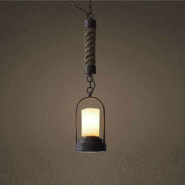 Lámparas colgantes LED de luz tradicional con lámpara de techo y lámpara de techo en hierro forjado con luz descendente para el comedor del dormitorio