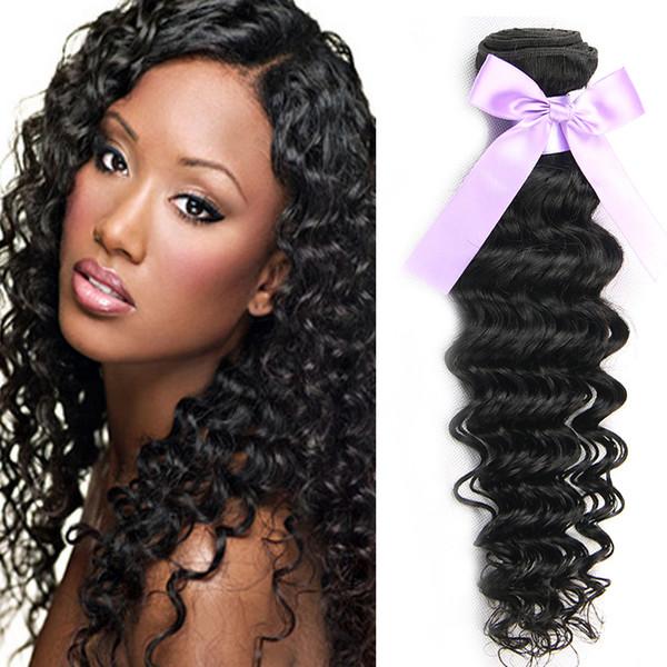 Virgin Brazilian Deep Curly Virgin Hair Extensions Brazilian Deep Wave 3 or 4 Bundles Cheap Peruvian Indian Human Hair Weave Bundles