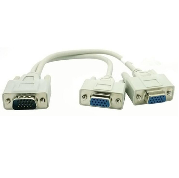 1 TO 2 VGA SVGA MONITOR Y SPLITTER CABLE 15 PIN 1 VGA Male to 2 VGA Female x100