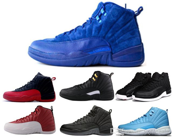 00901cd0631 New shoes 12s Premium Deep Royal Blue Suede 12s Wool Gym red French Blue  Gamma Blue