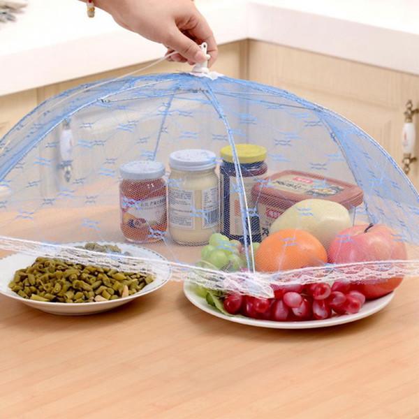 Regenschirm Essen deckt Hexagon Gaze Anti Fly Moskito Küche Kochen Werkzeuge Mahlzeit Abdeckung Tabelle Mesh Spitze Essen Abdeckung OOA1932