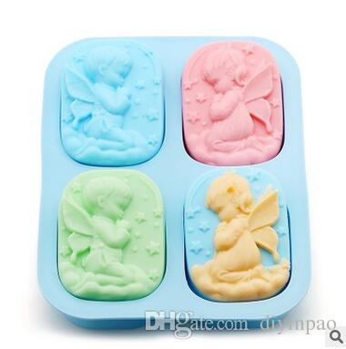 DIY Soap Moulds Dessert Biscuits Making Model Candy Jelly Cake Baking Pan Angle Baby Square Baking Moulds Baking Tools Free Shipping