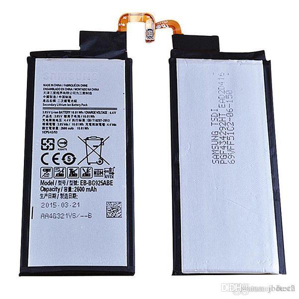 best selling Factory Manufacturer Supply S6 S6 Edge battery G9250 Batteries EB-BG925ABE Mobile Cell battery for Samsung S6 S6 Edge G9250 100Pcs