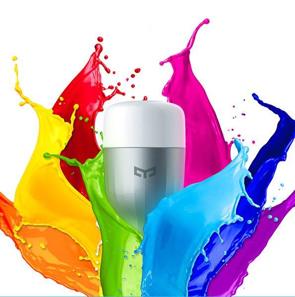 Telecomando all'ingrosso-XiaoMi Colorful APP WIFI Smart LED Luce RGB Temperatura Lampada romantica Yeelight per iOS Android Phone