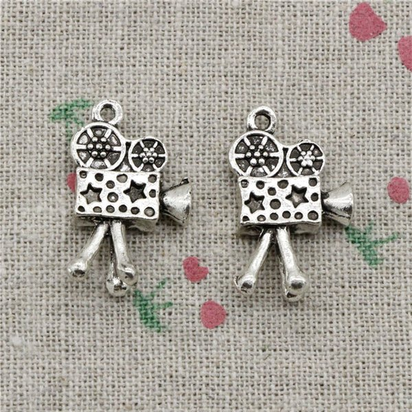 34pcs Charms movie camera projector 25*17mm Antique Silver Pendant Zinc Alloy Jewelry DIY Hand Made Bracelet Necklace Fitting