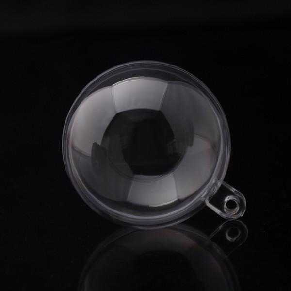 5 cm Bolas de plástico transparente Transparente Bola colgante de Navidad Adornos de bolas redondas para el banquete de boda Decoraciones de Navidad festivas
