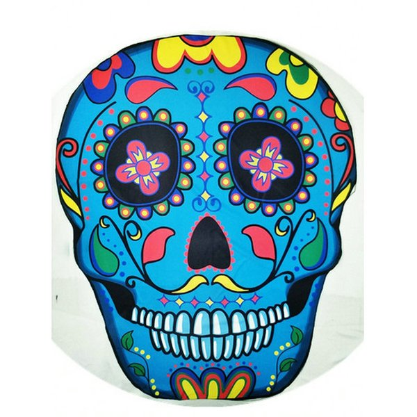 Skull Shaped 59 Inch Round Yoga Mat Bohemian Mandala Tapestry Wall Decorative Hanging Tapestries Summer Beach Towel Throw Rug Blanket Gift