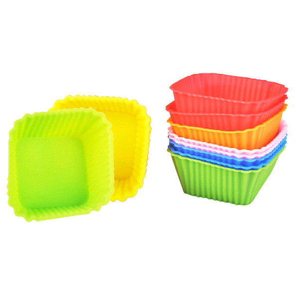 Silicone Mold Egg Tart Chocolates Bread Baking Cake Mould Silica Multicolor Heat Resisting Easy Clean High Quality Popular 8qt C R