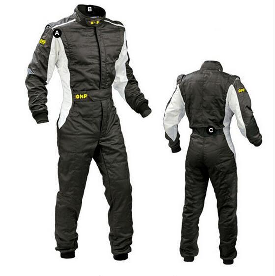 best selling 2017 New Arrival OMP Karting Suit Car Motorcycle Racing Club Exercise Clothing Overalls Stig Suit Two Layer Waterproof