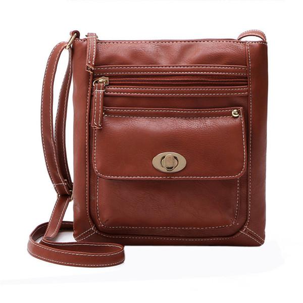 Wholesale- 2016 Lady PU Leather Shoulder Bag Women Messenger Bags for Women Handbag Bucket Bag Bosla Feminina Satchel Double Zip Cross Bag