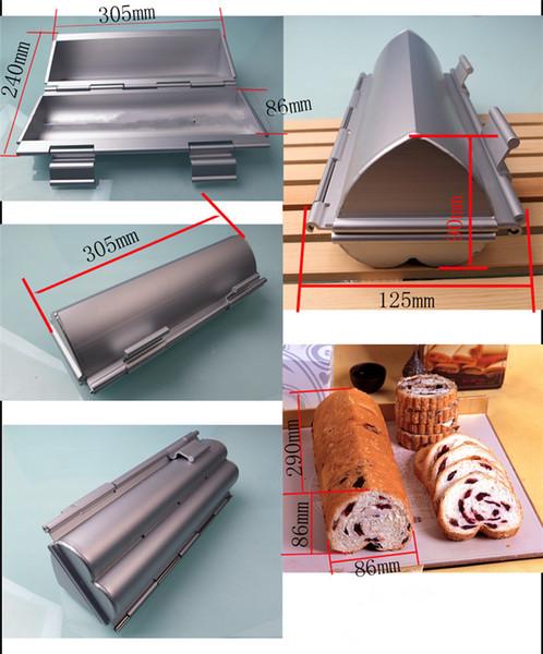 Großhandels-1PC hoher Qualität Toaster herzförmige Aluminiumform Backformen Toast Brotlaib Metallform für zu Hause Küche DIY Backenwerkzeuge