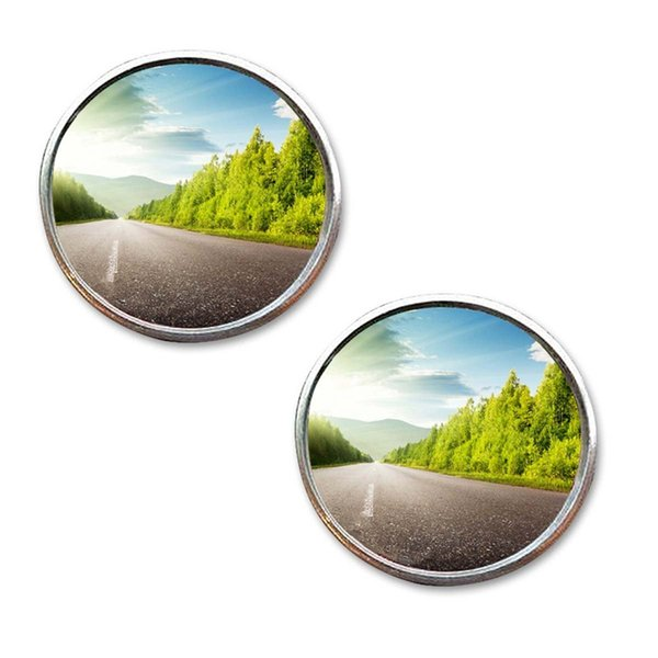 Wide Angle Round Convex Blind Spot mirror rain shape for new Car Driver
