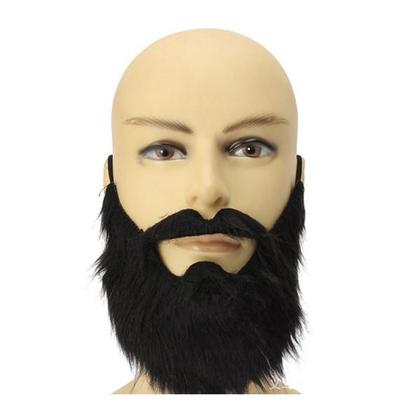 100 teile / los Neue Ankunft Mode Lustige Kostüm Party Männlichen Mann Halloween Bart Gesichts Haar Verkleidung Spiel Schwarz Schnurrbart WA0802