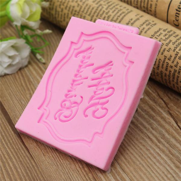 Venta al por mayor de alta calidad! 3D silicona feliz cumpleaños molde molde magdalena herramientas de decoración estera Sugar Craft
